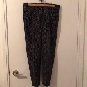 ANN TAYLOR Navy Blue Slim Trouser Pant